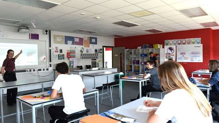 Students returned to face-to-face lessons at Ipswich Academy for the first time in several weeks fol