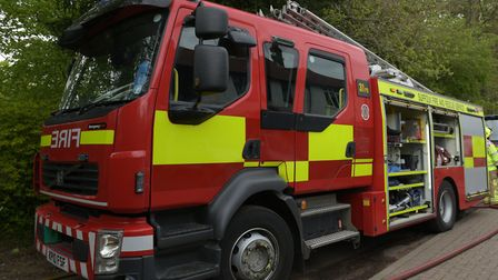 Fire crews have been called to Tannington after chopped wood caught fire (file photo) Picture: SARAH