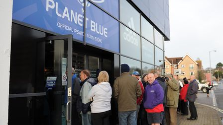 Supporters will have to use 'cash' vouchers in person at the Planet Blue store or the ticket office.