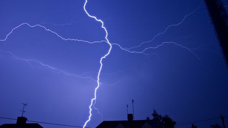 There is a low chance of thunder in Suffolk on Thursday evening Picture: PETER CUTTS