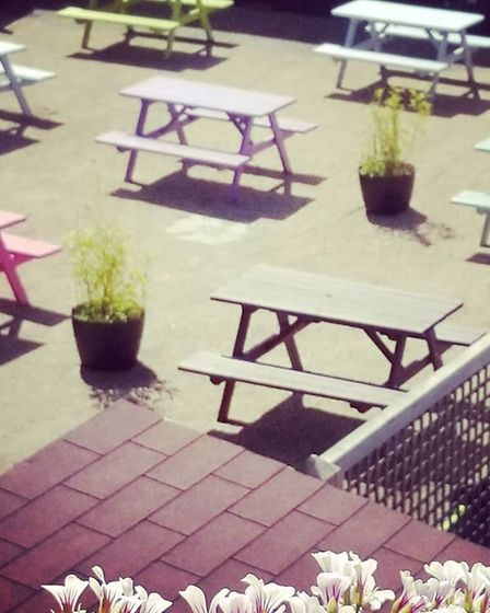 The new socially-distanced outdoor area at The Ingate Freehouse Picture: The Ingate Freehouse