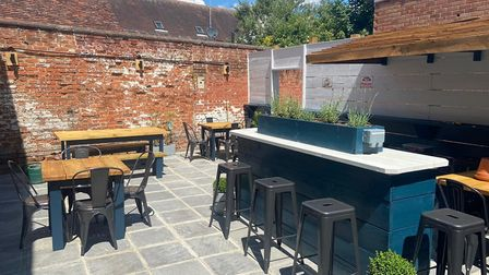 Cobblers' new outdoor dining area Picture: Cobblers Cafe and Wine Bar