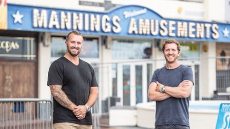 Charlie and Johnny Manning are looking forward to reopening their arcade in Felixstowe on Super Satu