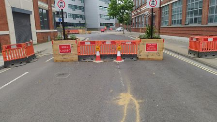 Portman Road has been blocked off to cars as part of the scheme Picture: ARCHANT