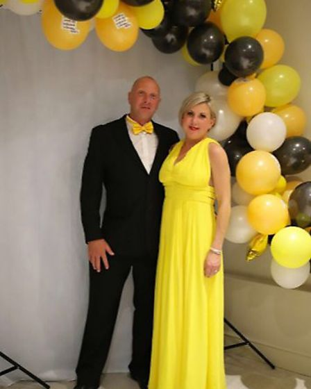 Sammie Read with husband Ewan at a fundraising ball for the CF Trust. Picture: SAMMIE READ