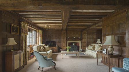One of the panelled rooms in Hardwich Manor Picture: Savills