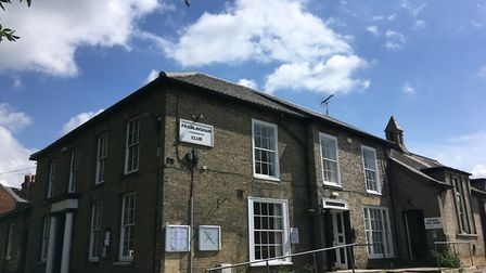 The project to revamp the Conservative Club in Framlingham is nearing completion Picture: ANDREW HIR