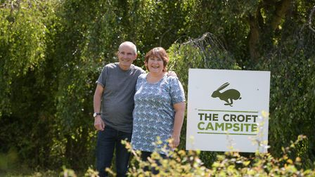 Guy and Maria Hindley reopened The Croft Campsite on Super Saturday Picture: SARAH LUCY BROWN