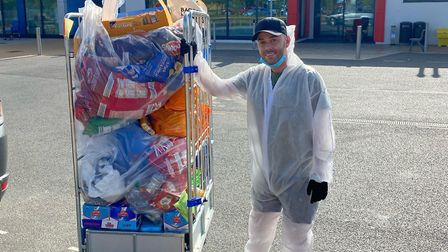 Paul Godfrey donated a huge care package to Colchester Hospital where he battled coronavirus in inte