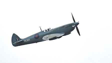 Bryan Wright caught an incredible sight of the Spitfire, flown over the skies of Suffolk and Essex h