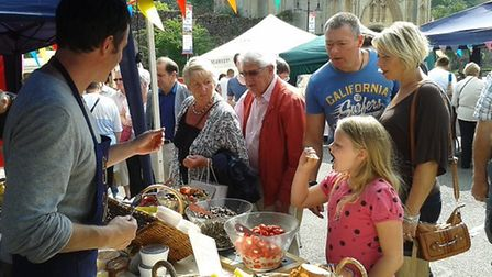 The Bury St Edmunds Farmers' Market is to return following the coronavirus lockdown. Picture: SUFFO