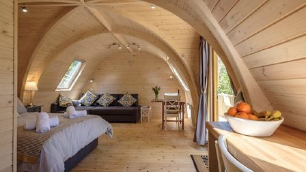 Inside one of the log cabins designed by LV Camping Pods, which would be similar to the ones install