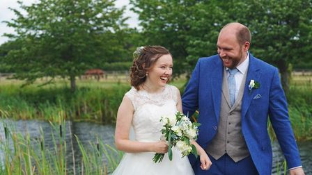 Julia and Henry Matter, who tied the knot on Saturday July 4 after spending weeks apart during the l