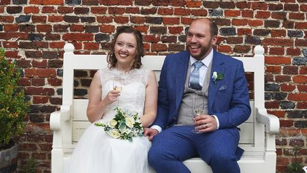 Julia and Henry Matter, who got married at a church in Debenham on Saturday, July 4. Picture: BECKY