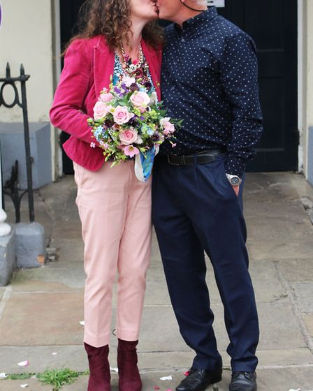 Tina Thomas, formerly Worby, and her husband Huw, were the first couple in Suffolk to have a registr
