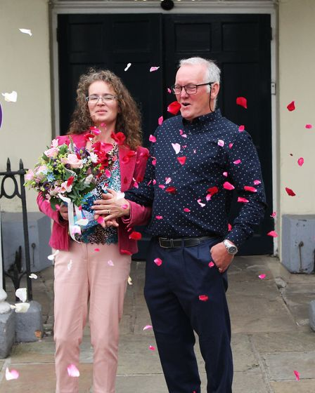 Tina and Huw Thomas got married on Saturday July 4, at the Athenaeum in Bury St Edmunds with four wi