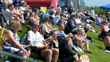 Crowds enjoy the action and sunshine at the Bury Sevens tournament in 2018. Picture: ANDY ABBOTT