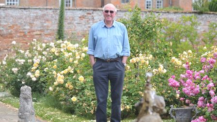 Philip Hope-Cobbold at his home, Glemham Hall in Suffolk Picture: SARAH LUCY BROWN