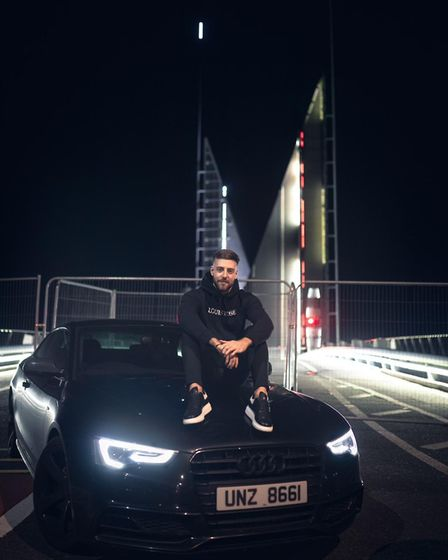 Alex Unsworth from Bury St Edmunds said he had worked hard for his car Picture: CONTRIBUTED