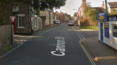 Cannon Street in Bury St Edmunds from Curry's Service Cemtre. Picture: GOOGLE