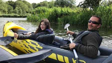 EADT's Group food and drink editor Charlotte Smith-Jarvis' daughter Ella and husband Alan navigating