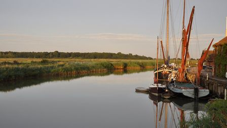 The River Alde at Snape Maltings provides the perfect location to launch a canoe or kayak from Pictu