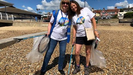 Debbie Bartlett, left, has organised a 'litter-free long weekend' starting on Friday Picture: DEBBIE