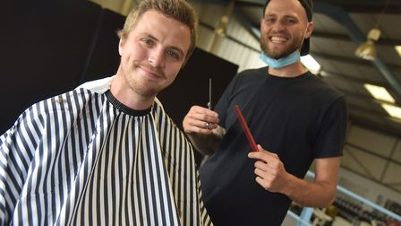 Nates Barbers can be found in the upper floor of Live Fit Gym. Byline: Sonya Duncan