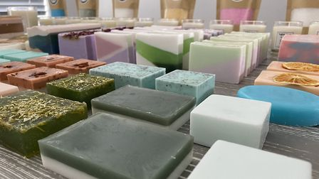 A selection of handmade soaps, candles and bath salts from The Suffolk Soap Co. Picture: Lee Casey