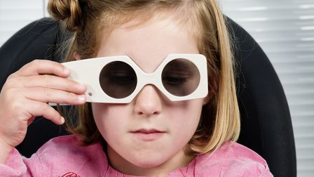 'Special sunglasses' check if both eyes are working together to see. Picture: Getty Images.