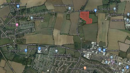The plot of land north of Clacton has approval for an 81-bungalow retirement village Picture: GOOGLE