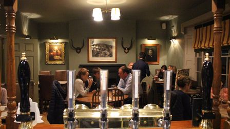 Inside the Black Lion in Long Melford before lockdown. Chestnut Group pubs will be taking a number o