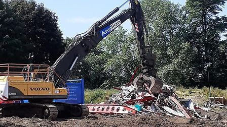 The old Hadleigh swimming pool has been demolished ahead of the opening of a new �2.4million leisure