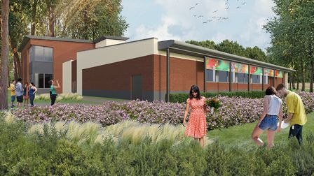 This is the latest artist's impression of the future Hadleigh Pool, set for a £2.4million renovation