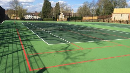 New tennis courts will open in Abbey Gardens from July 1. Picture: WEST SUFFOLK COUNCIL