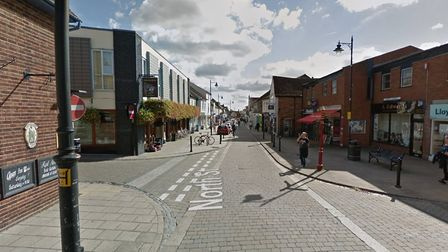 There has been a four-car collision in North Street, Sudbury. Picture: Google Maps