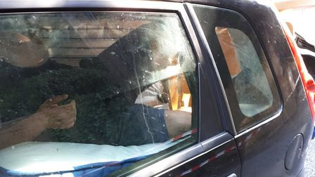 Police say a man was found inside the car, laying on the mattresses Picture: SUFFOLK POLICE