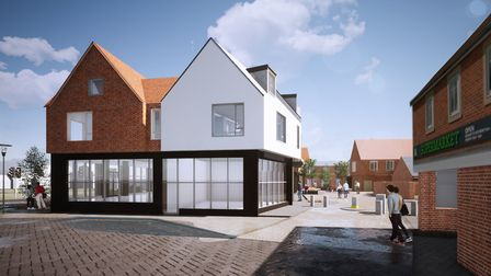 Plans have been approved for a new mixed retail and living development in central Hadleigh Picture:
