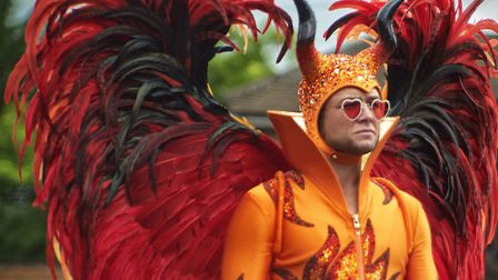 Taron Egerton in Rocketman is being screened this summer at a series of drive-in movies Picture: PA