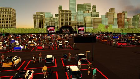 An artist's impression of the Utilita Drive-in stage at Newmarket this summer Photo: Live Nation