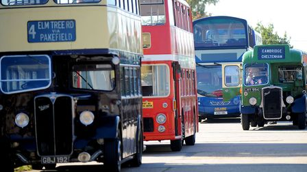 Ipswich Transport Museum's Come and Ride on our Buses day in 2011 featured many historic vehicles fr