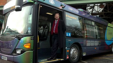 For MP Chris Mole with a new Ipswich Buses vehicle in 2007. Picture: ARCHANT LIBRARY