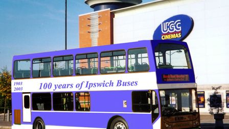 A blue double decker to mark Ipswich Buses 100th anniversary. Picture: ARCHANT LIBRARY