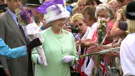The Queen meeting the crowds on Angel Hill in Bury St Edmunds on June 17, 2002. Were you there? Pict