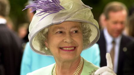 A smiling Queen during her Golden Jubilee visit to Bury St Edmunds . Picture: ARCHANT LIBRARY