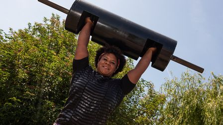 Andrea Thompson is training for a world record log lift Picture: SARAH LUCY BROWN