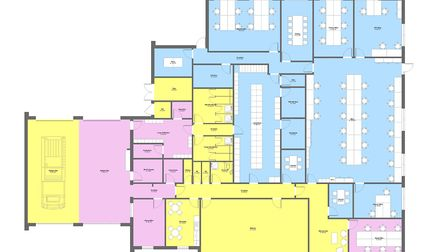 The proposed layout includes a dedicated office for the local Policing team and the Serious Collisio