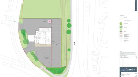 The proposed station would be a base for both police and firefighters with direct access to the A14.