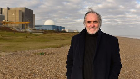 Environmentalist Pete Wilkinson, chairman of Together Against Sizewell C, on Sizewell beach. Pictur
