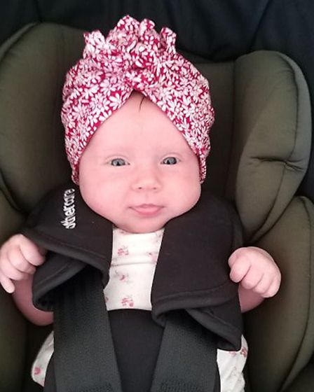 Adorable Elsiemay Rosealee Southey, who weighed 6lb 2oz when she was born. Picture: SOPHIA SOUTHEY